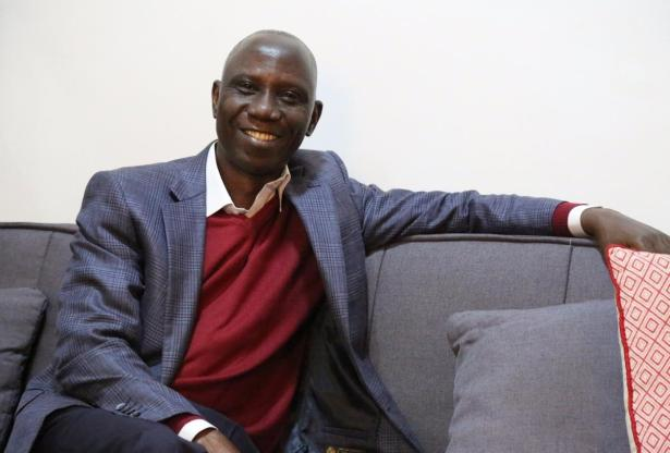 The venerable Uncle Ebo Whyte looking very dapper.